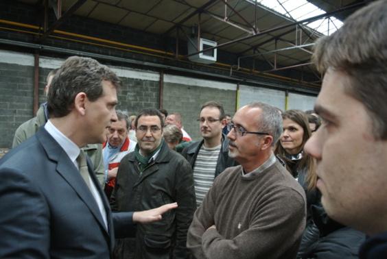 Le ministre du Redressement industriel face aux salariés de Sealynx
