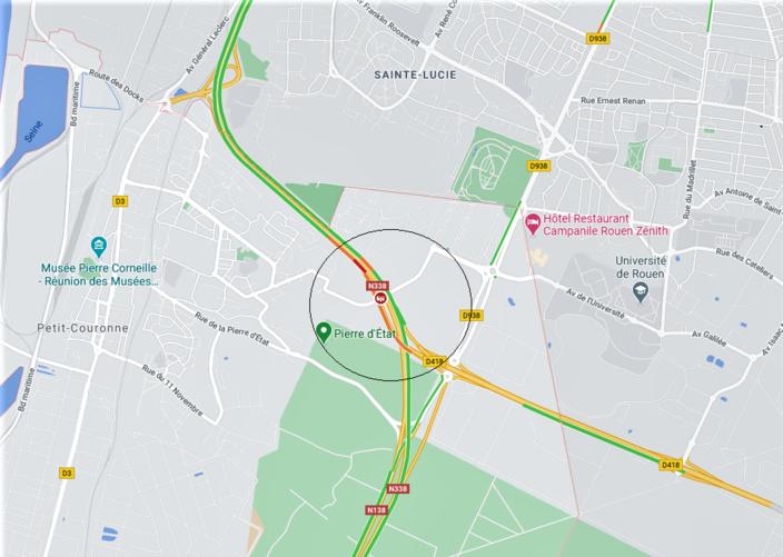 Accident mortel près de Rouen : la N338 fermée cette nuit à la circulation en direction de Paris