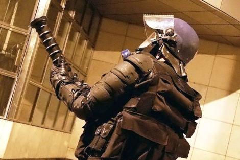 Les policiers ont fait usage entre autre armement collectif, d'un Cougar, un lanceur de grenades lacrymogènes - illustration