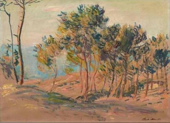 """""""Sapins à Varengeville"""" : un hommage de Claude Monet à la côte normande qu'il effectionnait"""
