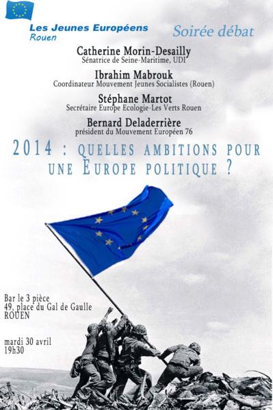 """Européennes 2014 : Les """"Jeunes Européens de Rouen"""" s'invitent dans le débat"""