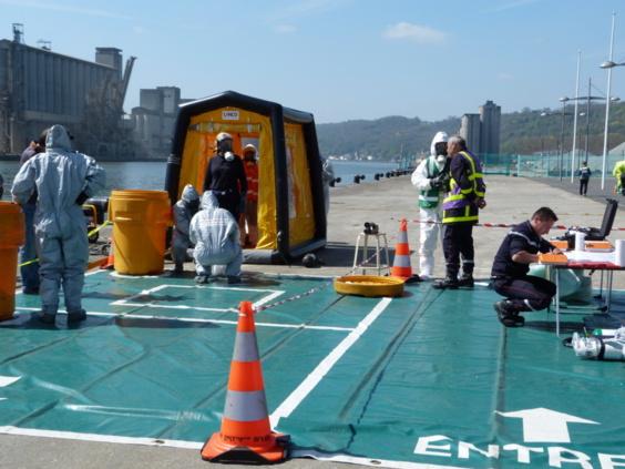 L'exercice a mobilisé quelque 450 participants tout au long de la journée au terminal croisière du Grand port maritime de Rouen