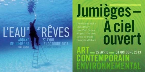 L'affiche des deux expositions qui sont présentées en ce moment