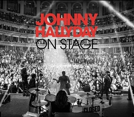 "La pochette de son prochain album ""On stage"""