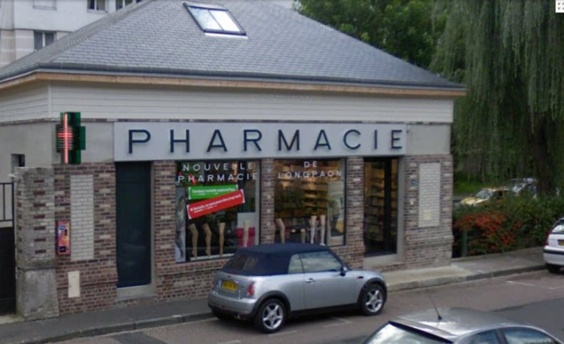 La nouvelle pharmacie de Longpaon était sur le point de fermer ce soir lorsque le malfaiteur a fait irruption (Photo Google Maps)