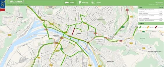 Le site trafic.rouen.fr a enregistré 150.000 visites depuis son ouverture, selon la mairie
