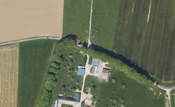 Le drame s'est produità quelques mètres de la ferme du Pimont à la sortie du hameau  de Breuilly en direction de Intraville (Photo Google Maps)