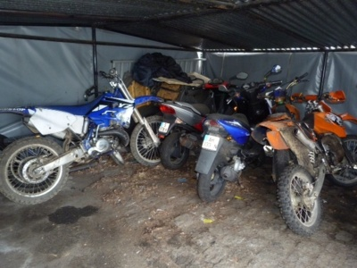 Les deux roues confisqués par les policiers ont été déposés à la fourrière