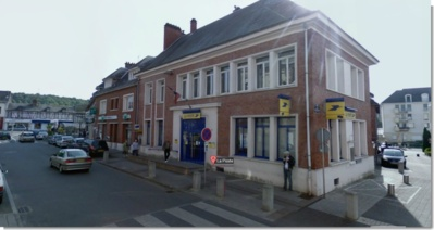 Le bureau de poste est situé en centre ville de Barentin (photo d'illustration Google Maps)