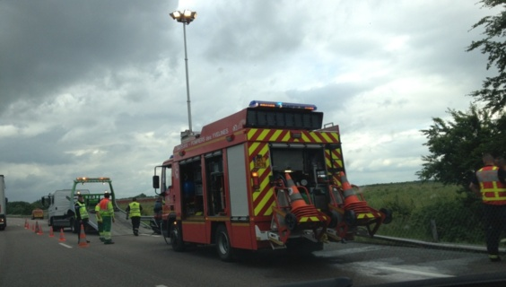 Accident sur l'A 13 à Douains, en direction de Rouen
