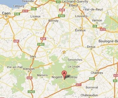 A Nogent-le-Rotrou, une ville d'Eure-et-Loir d'un peu moins de 11.000 habitants, c'est la plus totale incompréhension (Google Maps)