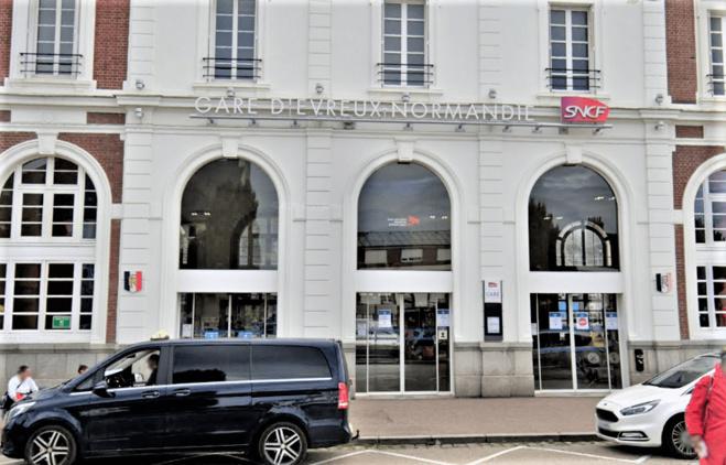 La gare d'Evreux a été privée d'électricité ce mardi matin  - Illustration ©Google Maps