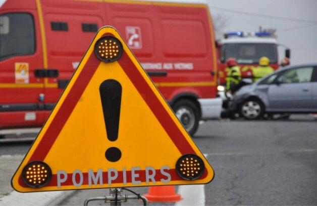 15 sapeurs-pompiers et deux équipes du SMUR sont intervenus sur les lieux de l'accident - Illustration