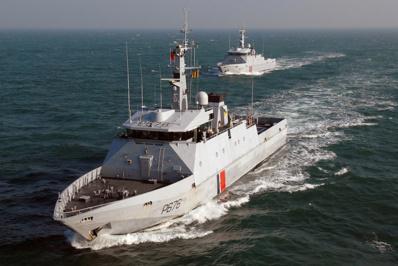 Le patrouilleur de service public Flamant de la marine nationale suivra la course du Figaro de Bordeaux à Dieppe (Photo Marine nationale)