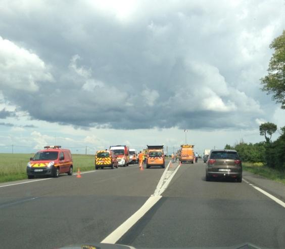 Circulation difficile sur l'axe Pacy-sur-Eure - Evreux à la suite d'un accident