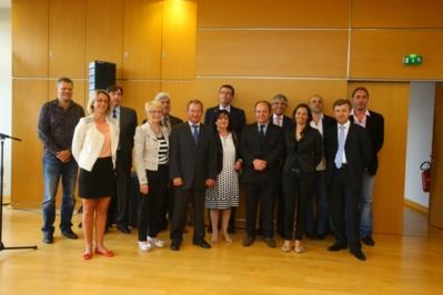 Didier Marie entouré des lauréats (photo  ©Alan Aubry – Département de Seine-Maritime)