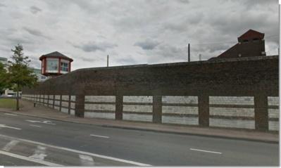 La maison d'arrêt de Rouen, située sur la rive gauche, abrite 700 détenus (Capture d'écran Google Maps)