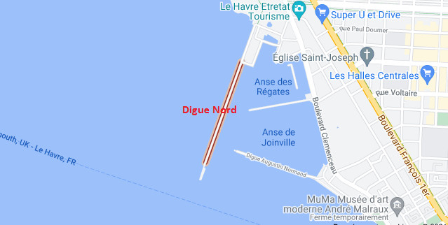 Des rafales de vent attendues ce week-end : la ville du Havre ferme la digue Nord