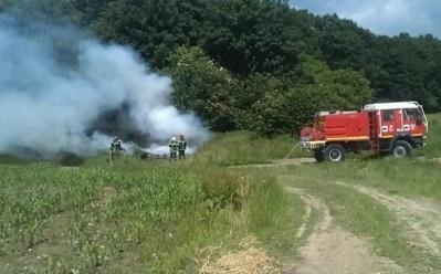 Le feu a été rapidement circonscrit par les pompiers (Photos Catherine/infonormandie)
