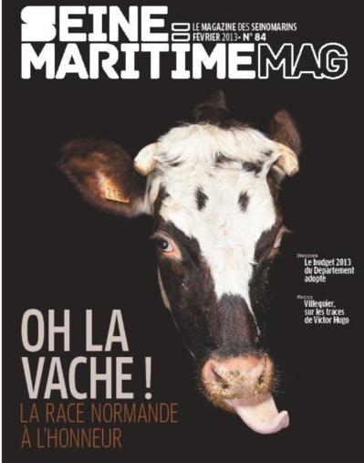 """Communication : """"Seine-Maritime magazine"""" primé pour """"Oh la vache ! """""""