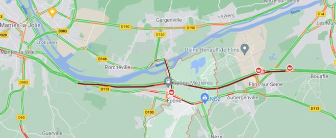 Accident sur l'A13 aux Mureaux : circulation difficile ce matin entre Mantes et Poissy
