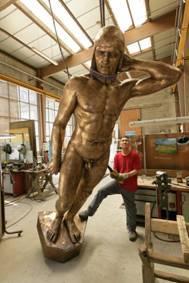 Les statues des années 1930, ont été restituées à l'identique (photo Ville du Havre)