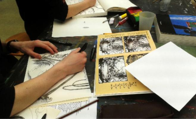 Atelier BD /Maison des Arts  - Illustration ©Frédéric Bihel