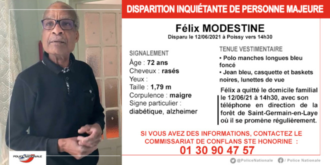 Yvelines : appel à témoin après la disparition inquiétante d'un septuagénaire à Poissy