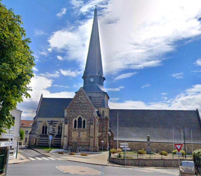 L'église d'Octeville-sur-Mer a elle aussi été visitée par le papy cambrioleur - illustration @ Google maps