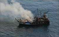 Le navire Cigogne immatriculé au Havre a coulé dimanche en début de soirée (Photo Marine nationale)