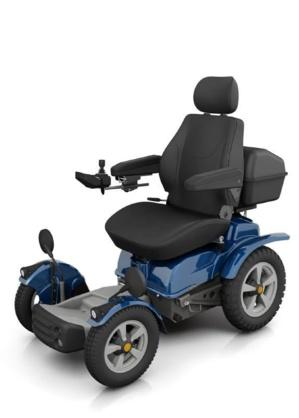 Le fauteuil Permobile X850, a été fabriqué spécialement pour Philippe Croizon. Il a coûté 24 000 euros