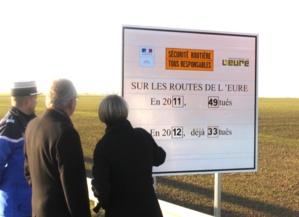 Seize tués en moins sur les routes de l'Eure en 2012