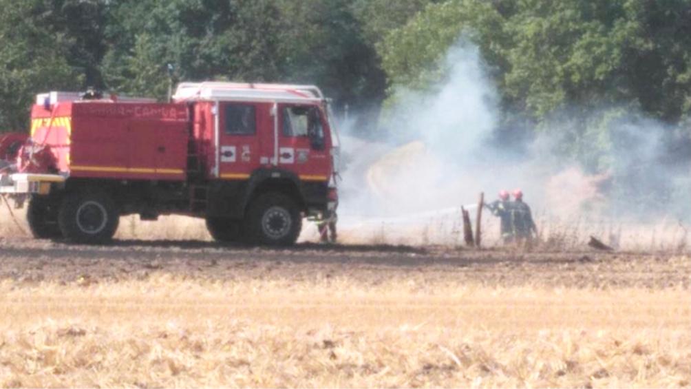Le feu s'est déclaré dimanche dans une parcelle d'orge - Illustration