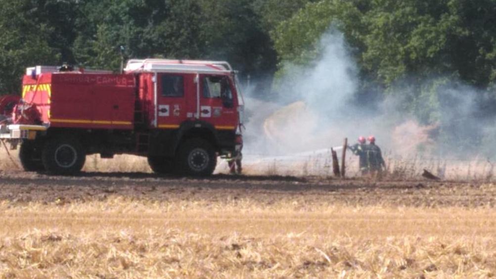Le feu a été éteint au moyen de trois lances - Illustration @ infoNormandie