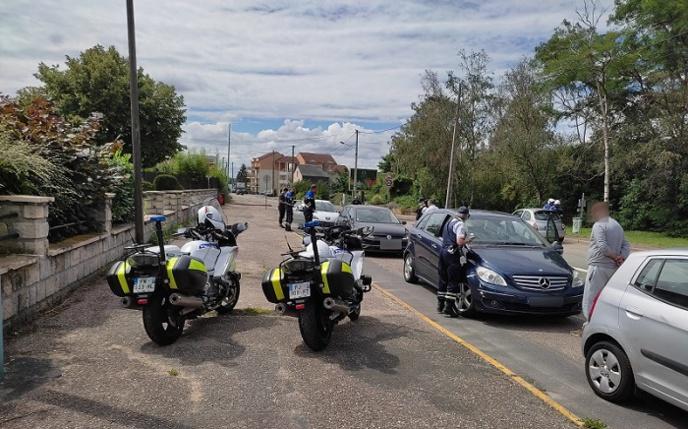 45 véhicules ont été contrôlés par une douzaine de policiers -  Photo © DDSP76