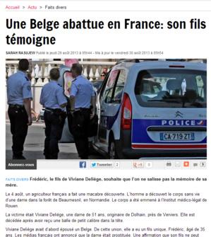 Le fils de Viviane Deliège témoigne dans le journal belge Dernière Heure