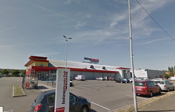 L'Intermarché est situé dans la ZAC Henri IV à Mantes-la-Jolie (@Google Maps)