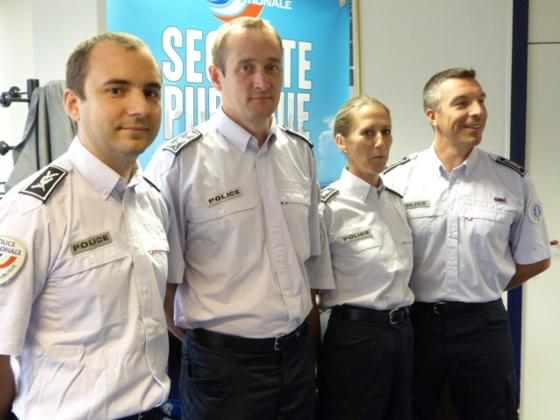 Les nouveaux commissaires : Grégory Arlaud, Sébastien Blondeau, Caroline Legrand et Julien Portron (de gauche à droite)