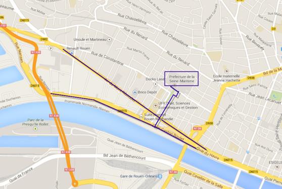 Le secteur entre le pont Flaubert et la préfecture est à éviter ce vendredi matin
