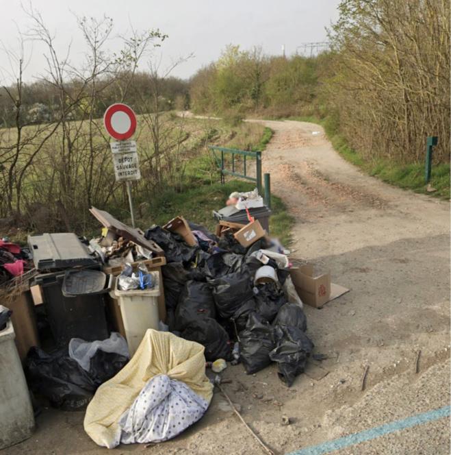 Un campement de roms était installé depuis quelques années sur un terrain de fortune en pleine nature pas très loin de la D190 - illustration @ Google maps