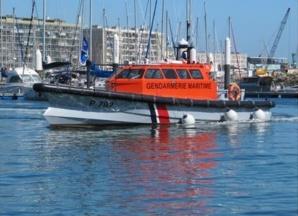 La vedette Pavois de la gendarmerie maritime a été engagée  (Photo Prémar)