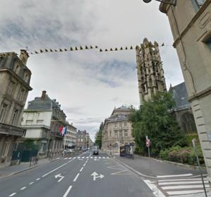 La rue Lecanuet, une des principales artères de la ville, va être en travaux pendant six semaines (@Google Maps)