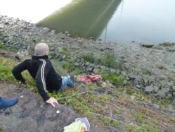 Déchets en bords de Seine : les écolos de Rouen 2014 à pied d'oeuvre sur l'Île Lacroix