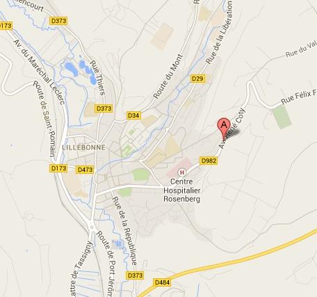 L'accident s'est produit dans l'agglomération de Lillebonne (@Google Maps)