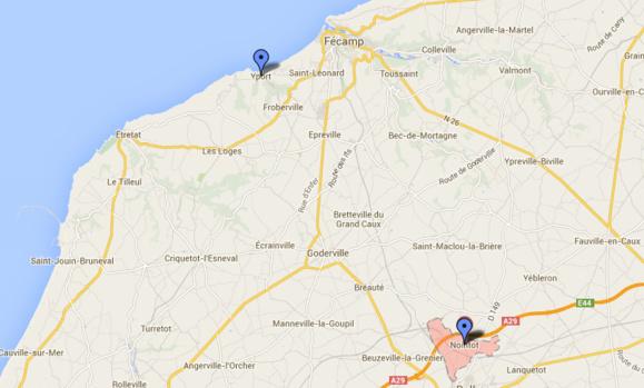 A Yport, près de Fécamp et à Nointot, dans les deux cas, c'est un voisin qui a alerté les secours.