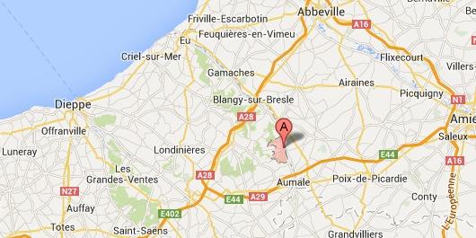 Le drame s''est déroulé  à Vieux-Rouen-sur-Bresle se situe dans le canton d'Aumale, au nord-est de la Seine-Maritime. Le TER arrivait d'Aumale où il avait fait un arrêt à 19h33.