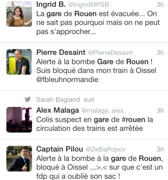 Alerte au colis suspect à la gare de Rouen : le sac suspect contenait des vêtements