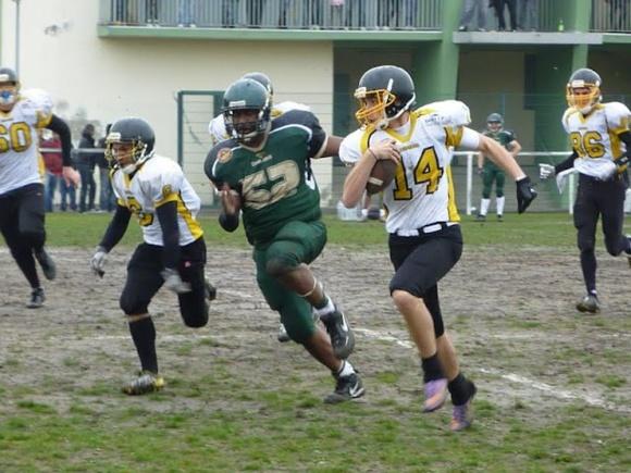 Les juniors en pleine action (Photo extraite du site Léopards de Rouen)