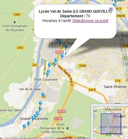 C'est à la station Lycée Val de Seine, sur la ligne n°6 qui dessert Rouen Beauvoisine et Grand-Couronne, que les faits décrits par la victime se sont produits