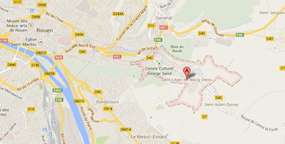 L'accident s'est produit dans une propriété privée située route de Lyons-la-Forêt, à Saint-Léger-du-Bourg-Denis, à moins de dix kilomètres de Rouen